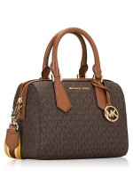 MICHAEL KORS Hayes Monogram Small Duffle Brown Luggage