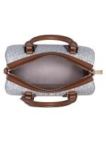 MICHAEL KORS Hayes Monogram Small Duffle Vanilla Luggage