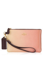 COACH 72893G Ombre Leather Small Wristlet Pink Multi