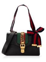 GUCCI Sylvie Small Shoulder Bag Black