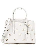 KATE SPADE Margaux Spade Stud Medium Satchel Optic White