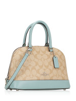 COACH 27583 Signature Mini Sierra Satchel Light Khaki Seafoam