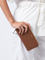 FOSSIL SWL2198210 Heidi Zip Wallet Medium Brown
