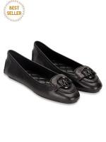 MICHAEL KORS Lillie Leather Flats Black Sz 9