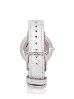 COACH 14502685 Slim Easton Leather Strap Metallic Silver