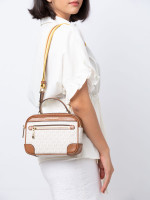 MICHAEL KORS Travel Monogram Top Handle Camera Bag Vanilla Luggage