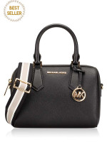 MICHAEL KORS Hayes Leather Small Duffle Black
