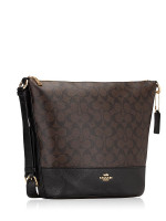 COACH 72852 Signature Paxton Duffle Brown Black