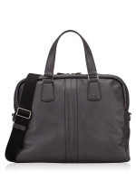 TOD'S Men Leather Briefcase Grey