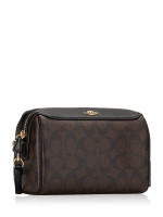 COACH 77879 Signature Bennett Crossbody Brown Black
