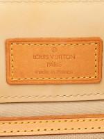 LOUIS VUITTON Monogram Vernis Noisette PM Beige