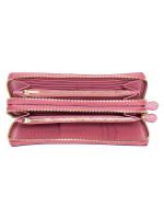 COACH 23334 Crossgrain Double Zip Travel Wallet Rose Petal