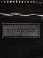 BURBERRY Check Medium Harcourt Satchel Black