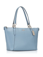 COACH 57526 Crossgrain Ava Leather Tote Cornflower