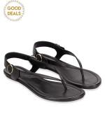TORY BURCH Minnie Travel Sandal Black Sz 7.5