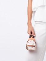 COACH 73143 Rainbow Mini Backpack Coin Case Chalk Light Coral