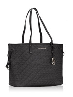 MICHAEL KORS Jet Set Monogram Large Drawstring Tote Black