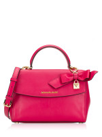 MICHAEL KORS Ava Small Soft Leather Top Handle Satchel Ultra Pink