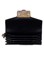 MICHAEL KORS Kinsley Leather Accordion Card Holder Wallet Black