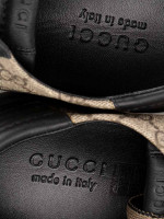 GUCCI Men GG Supreme Sneakers Beige Black Sz 9