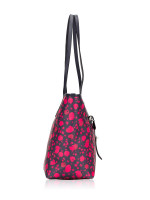 COACH 57283 Prairie Calico Floral City Tote Midnight Pink Ruby