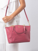 COACH 28993 Pebbled Leather Small Kelsey Rouge