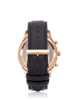 TEIWE Men TW99239G-B03 Leather Strap Black Gold