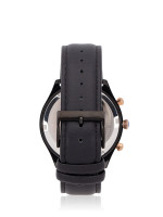 TEIWE Men TW99235G-B01 Gent Leather Strap Black