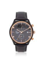 TEIWE Men TW99235G-B01 Gent Leather Strap Black