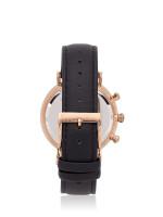 TEIWE Men TW99238G-B02 Gent Chronograph Leather Strap Black