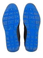 BALENCIAGA Men Race Runner Sneakers White Sapphire Black Sz 42