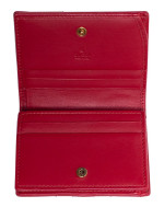 GUCCI GG Marmont Mini Wallet Red