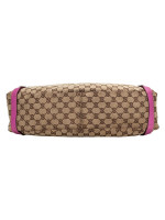 GUCCI Canvas Abbey Tote Bag Beige Pink