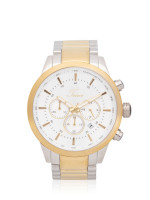 TEIWE Men TWC-18011 Chronograph Stainless Silver Gold