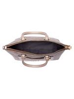 COACH 73286 Signature Metallic Mini Emma Khaki Platinum