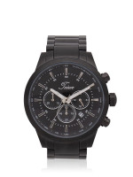 TEIWE Men TWC-18013 Gent Chronograph Stainless Black