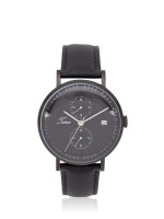 TEIWE Men TWC-19012 Leather Strap Black