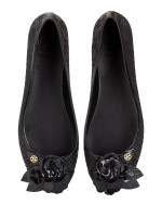 TORY BURCH Blossom Jelly Flats Black Sz 8