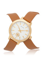 TORY BURCH TBW1304 Collins Leather Strap Tan