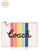 COACH 68622 Rainbow Leather Pouch Chalk