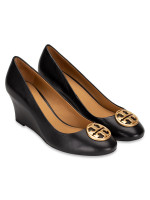 TORY BURCH Chelsea Leather Wedges Perfect Black Sz 7