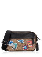 COACH 72947 Signature Graham Travel Patches Crossbody Tan