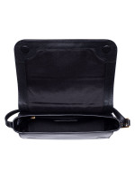 MARC JACOBS Commuter Medium Leather Flap Crossbody Black