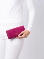 PRADA 1MH132 Saffiano Continental Wallet Ametista