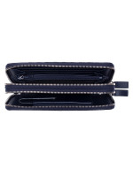 GUCCI Men Micro Guccissima Top Handle Travel Wallet Navy