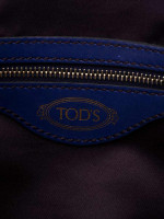 TOD'S ALR Piccola Leather Satchel Blue Electric