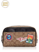COACH 75915 Signature Overnight Travel Kit Khaki Multi