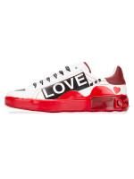 DOLCE & GABBANA Love Melt Portofino Sneakers White Red Sz 11