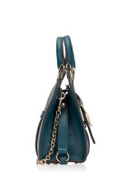 GUCCI Stirrup Small Top Handle Bag Turquoise