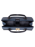 LOUIS VUITTON Taurillon Cour Marly MM Bleu